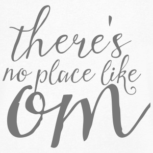 There's No Place Like OM T-shirts - T-shirt med v-ringning herr