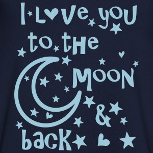 I love you to the moon and back Men's V-Neck T-S - Men's V-Neck T-Shirt