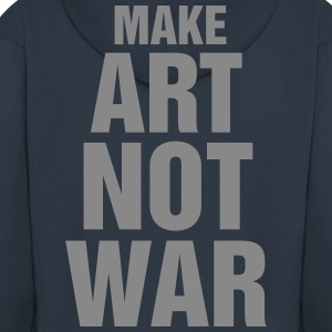 make art not war - Veste à capuche Premium Homme