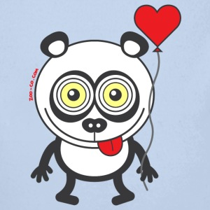 Panda bear feeling madly in love Hoodies - Longlseeve Baby Bodysuit