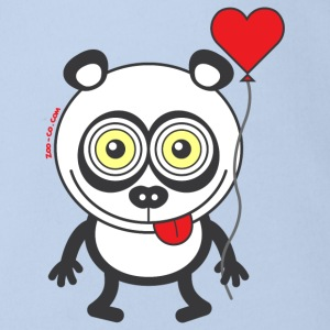 Panda bear feeling madly in love Shirts - Organic Short-sleeved Baby Bodysuit