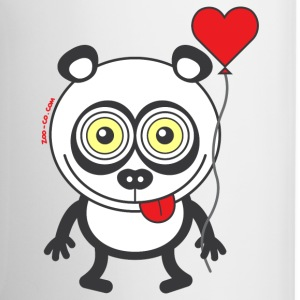 Panda bear feeling madly in love Mugs & Drinkware - Contrasting Mug