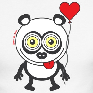 Panda bear feeling madly in love Long sleeve shirts - Men's Long Sleeve Baseball T-Shirt