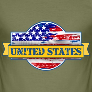 United States of  America T-Shirts - Men's Slim Fit T-Shirt