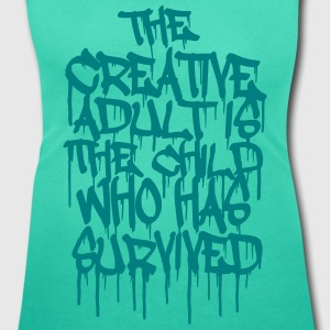 The Creative Adult is the Child Who Has Survived Magliette - T-shirt scollata donna