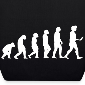evolution men smartphone evolución ape Bags & Backpacks - EarthPositive Tote Bag