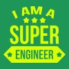 I am a Super Engineer  Koszulki - Koszulka męska Premium