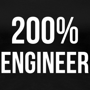 200% Engineer  T-shirts - Dame premium T-shirt