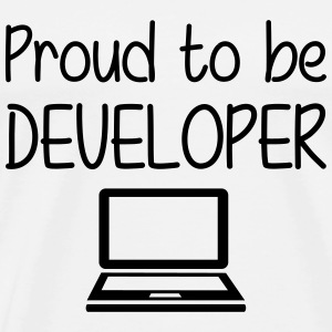 Proud to be Developer Koszulki - Koszulka męska Premium