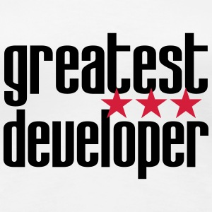Greatest Developer T-shirts - Dame premium T-shirt