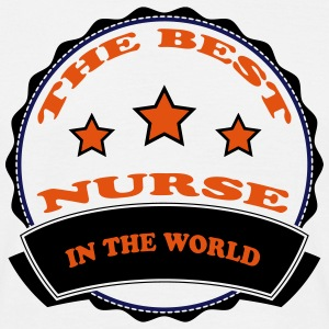 The best nurse in the world 111 T-skjorter - T-skjorte for menn