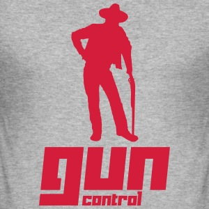 Gun Control (Vector) - Men's Slim Fit T-Shirt