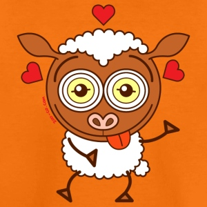 Crazy sheep feeling lucky in love Shirts - Kids' Premium T-Shirt