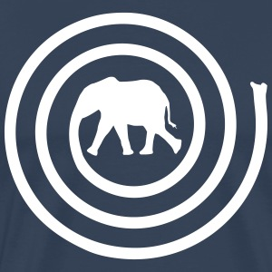 Elephant spirale Tee shirts - T-shirt Premium Homme