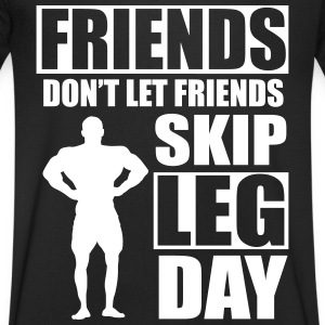 Friends don't let friends skip leg day T-shirts - T-shirt med v-ringning herr