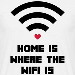 Home Where WiFi Is  Koszulki - Koszulka męska