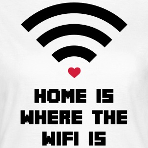 Home Where WiFi Is  T-shirts - Dame-T-shirt