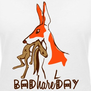 bad_hare_day T-Shirts - Women's V-Neck T-Shirt