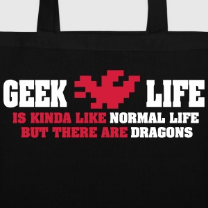Geek life - there are dragons Tassen & rugzakken - Tas van stof