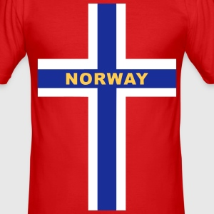 Norway - Norvège T-Shirts - Men's Slim Fit T-Shirt