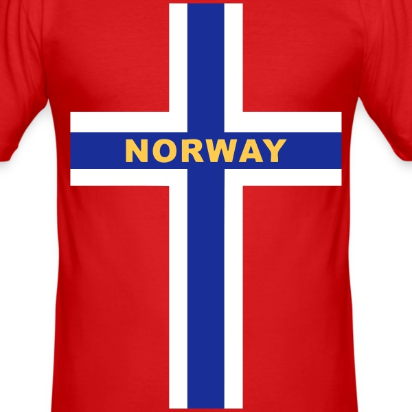 Norway - Norvège T-skjorter - Slim Fit T-skjorte for menn