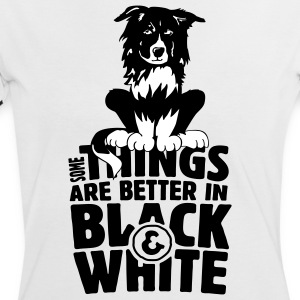 Some things are better in black and white - Frauen Kontrast-T-Shirt
