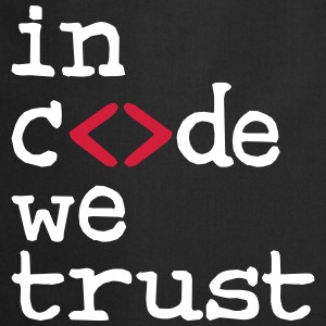 in code we trust !  Aprons - Cooking Apron