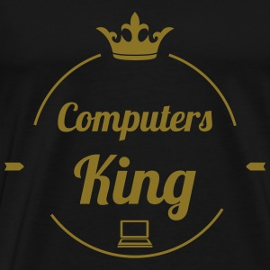 Computers King T-shirts - Herre premium T-shirt