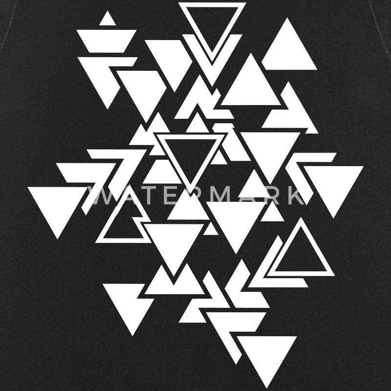 tablier triangles motif graphique spreadshirt. Black Bedroom Furniture Sets. Home Design Ideas
