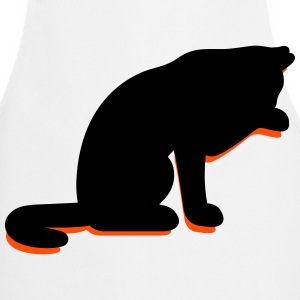 A cat licking its paw  Aprons - Cooking Apron