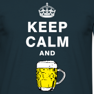 Design ~ Keep calm and drink beer T-shirt