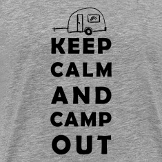 keep calm camping T-skjorter