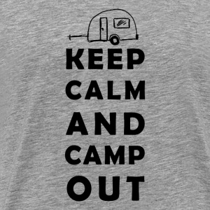 keep calm camping T-skjorter - Premium T-skjorte for menn