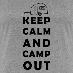 keep calm camping T-shirts - Vrouwen Premium T-shirt