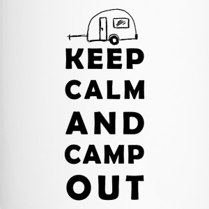 keep calm camping Bouteilles et Tasses - Mug thermos