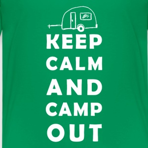 keep calm camping Shirts - Kinderen Premium T-shirt
