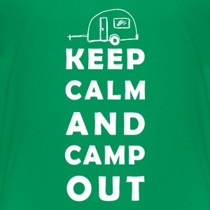 keep calm camping Shirts - Teenage Premium T-Shirt