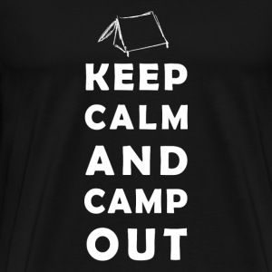 keep calm camping T-shirts - Herre premium T-shirt