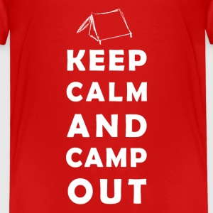 keep calm camping Skjorter - Premium T-skjorte for barn