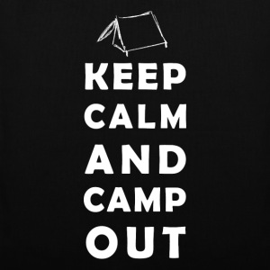 keep calm camping Sacs et sacs à dos - Tote Bag