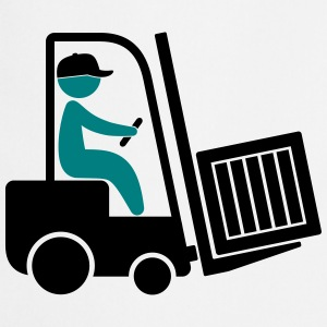 A forklift transporting a box  Aprons - Cooking Apron