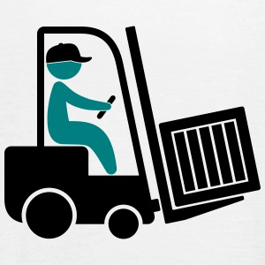 A forklift transporting a box Tops - Women's Tank Top by Bella