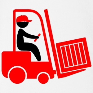 A forklift transporting a box Shirts - Organic Short-sleeved Baby Bodysuit