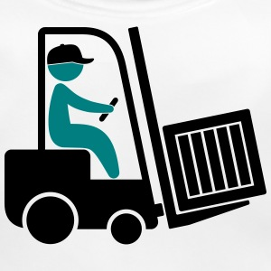 A forklift transporting a box Accessories - Baby Organic Bib