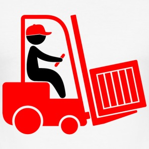 A forklift transporting a box T-Shirts - Men's Slim Fit T-Shirt