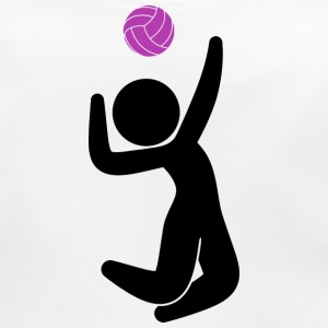 A volleyball player jumps for the ball Accessories - Baby Organic Bib