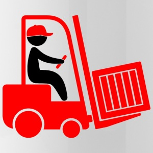 A forklift transporting a box Mugs & Drinkware - Water Bottle
