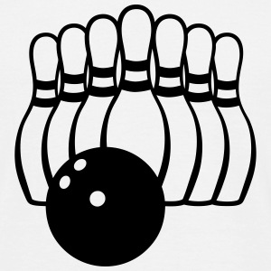 Ten Pin Bowling Team Logo - Rack and Ball T-Shirts - Men's T-Shirt