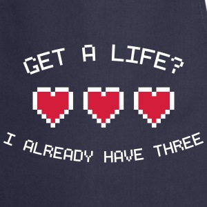 Get A Life 8-Bit Gamer Hearts  Aprons - Cooking Apron