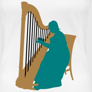 I play Harp for Jesus - Frauen Premium T-Shirt